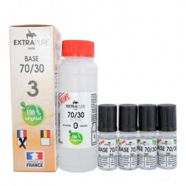 Pack Base 70/30 140ml + booster pour du 3mg Extra DIY ExtraDIY Paris Bases neutres ExtraDIY 140 ET 260 ml