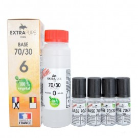 Pack Base 70/30 140ml + booster pour du 6mg Extra DIY ExtraDIY Paris Bases neutres ExtraDIY 140 ET 260 ml