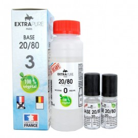 Pack Base 20/80 140ml + booster pour du 3mg Extra DIY ExtraDIY Paris Bases neutres ExtraDIY 140 ET 260 ml