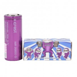 2 Accu Efest Purple Flat Top 26650 4200Mah 50A Efest Accus
